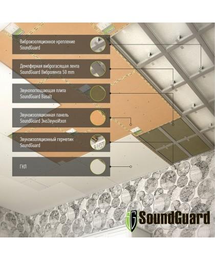 Звукоизоляция под натяжной потолок - система Стандарт