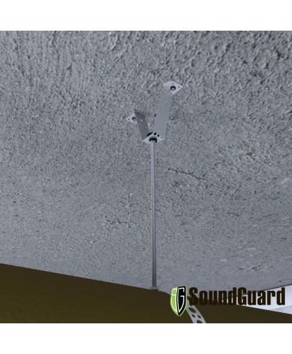 Виброизоляция воздуховода с виброкреплением ВиброКреп Про 8 и мембраной