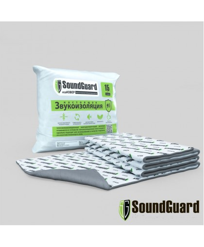 Звукоизоляционный мат SoundGuard ИзоКовер 5000*1500*15 мм