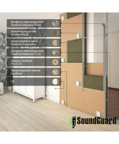 Звукоизоляционная перегородка для гостиниц