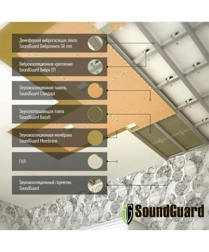 "Шумоизоляция потолка - система ""Стандарт+ Комфорт"""