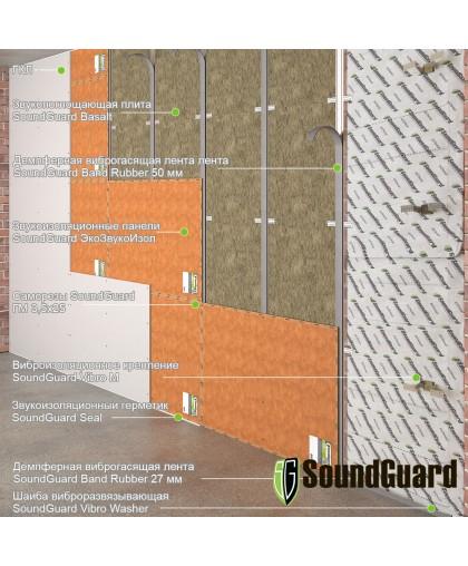 "Каркасная звукоизоляция стены ""Стандарт комфорт"""