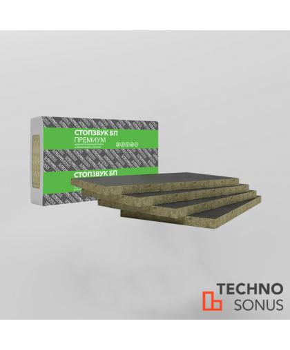 Плита шумопоглощающая СтопЗвук БП Премиум ( 1,0м*0,6м*50мм) 4шт.2,4м2