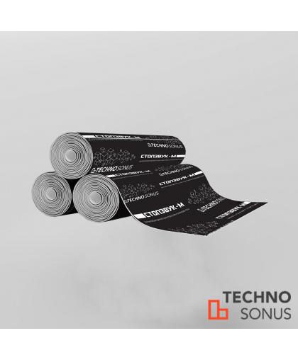 Полотно для гидро-звукоизоляции  СтопЗвук-М ( 10м*1м*4,5мм ) 10м2