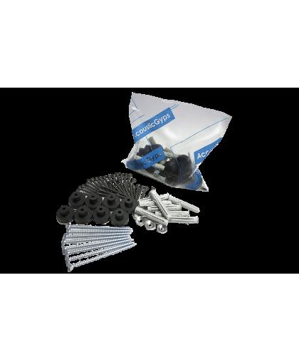 Комплект крепежа звукоизоляционных панелей АкустикГипс (AcousticGyps) Basic