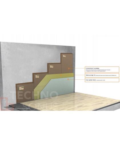 Бескаркасная система звукоизоляции стен Слим Премиум